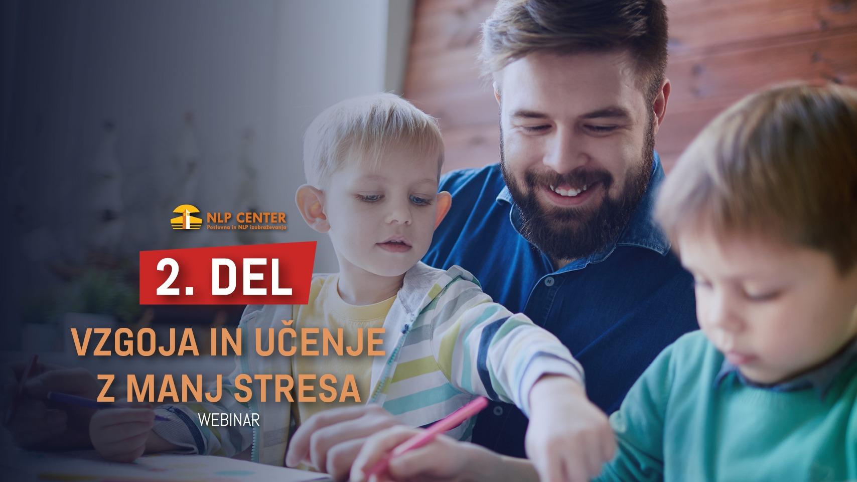 Vzgoja in učenje z manj stresa - NLP za starše in pedagoge <strong>2. DEL</strong>