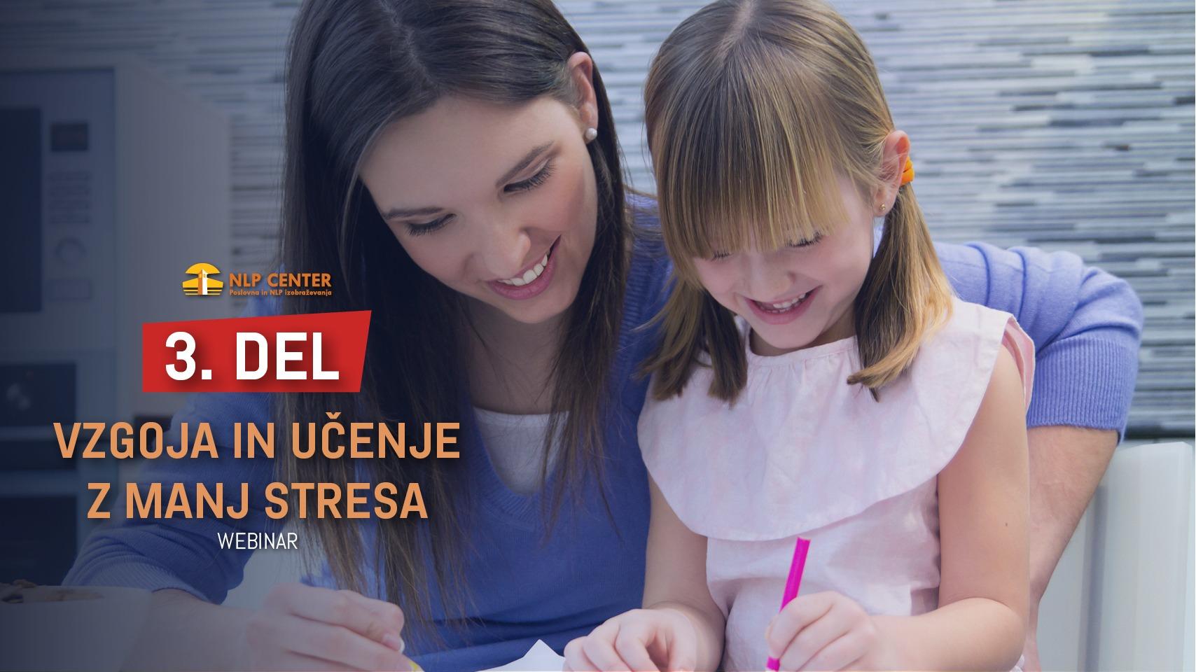 Vzgoja in učenje z manj stresa - NLP za starše in pedagoge <strong>3. DEL</strong>